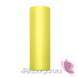 Tiul j. żółty, rolka 15cm x 9m