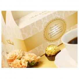 Pudełka na tort Pudełko na ciasto weselne - Kremowe