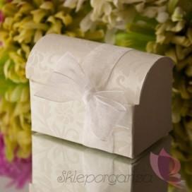 Pudełko kuferek kremowy FLORENCJA