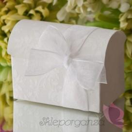 Pudełko kuferek biały WENECJA