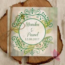 Zaproszenie - personalizacja kolekcja WOODLAND 3