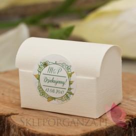 Pudełko kuferek śmietankowy – personalizacja kolekcja WOODLAND WHITE
