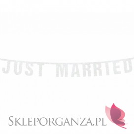 Banery Baner Just Married biały