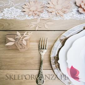 Dekoracyjne gałązki papierowe pudrowy róż, 9szt.