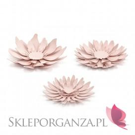 Dekoracyjne kwiaty pudrowy róż