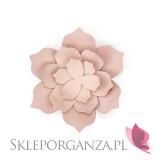 Papierowe dekoracje Dekoracyjne kwiaty pudrowy róż duże, 3 szt.