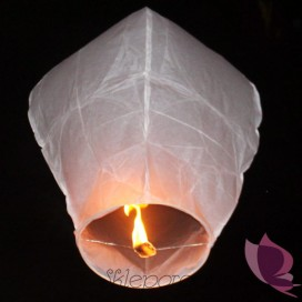Latające lampiony życzeń - białe