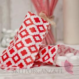 Papierowa torebka ORNAMENT czerwona