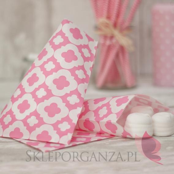Pudełka i Torebki Papierowa torebka ORNAMENT różowa