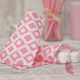 Papierowa torebka ORNAMENT różowa