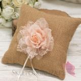 Poduszki na obrączki Poduszka na obrączki - VINTAGE pudrowy róż