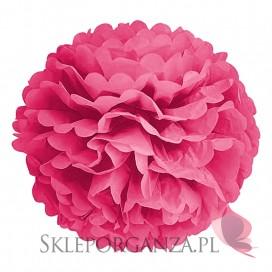 Papierowy kwiat, ciemnoróżowy, 50cm