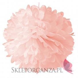 Papierowy kwiat, jasnoróżowy, 50cm