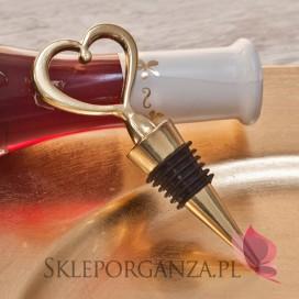 Romance Złota zatyczka do wina serce