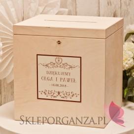 Personalizowane Drewniana skrzynka na koperty - personalizacja