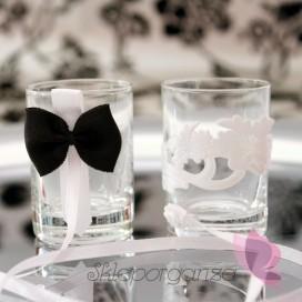 Kieliszki i ozdoby Kieliszki do wódki - białe