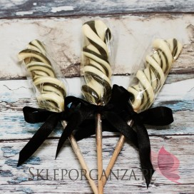 Lizaki Lizak świderek kremowo-czarny