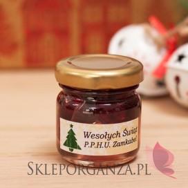 Upominek świąteczny – miód z wiśniami - personalizacja