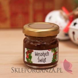 Upominek świąteczny – miód z kakao - personalizacja