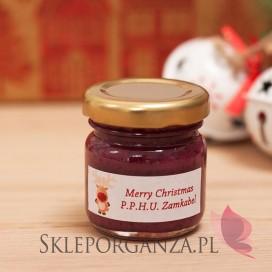 Upominek świąteczny – miód z jagodami - personalizacja