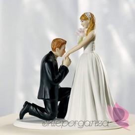 Porcelanowa figurka na tort - Kopciuszek