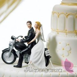 Porcelanowa figurka na tort - Na motocyklu