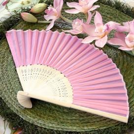 Wachlarz materiałowy różowy