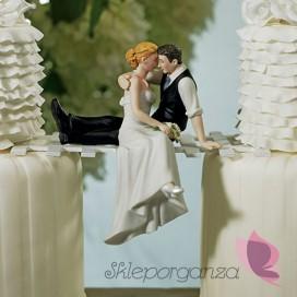 Porcelanowa figurka na tort - Miłosne spojrzenie