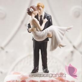 Porcelanowa figurka na tort - W ramionach