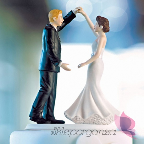 Figurki na tort Porcelanowa figurka na tort - Taniec