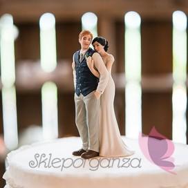 Porcelanowa figurka na tort - Miłosny uścisk