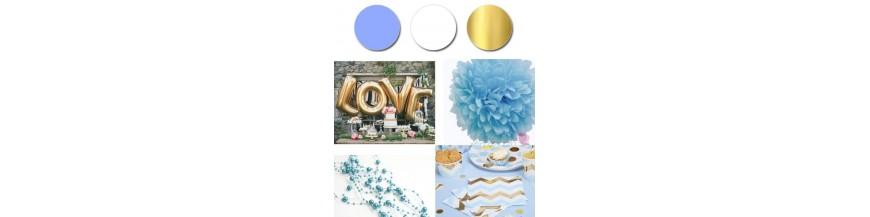 Paleta - niebieski, złoty