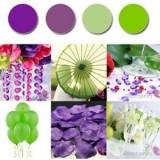 Paleta - fiolet, zieleń