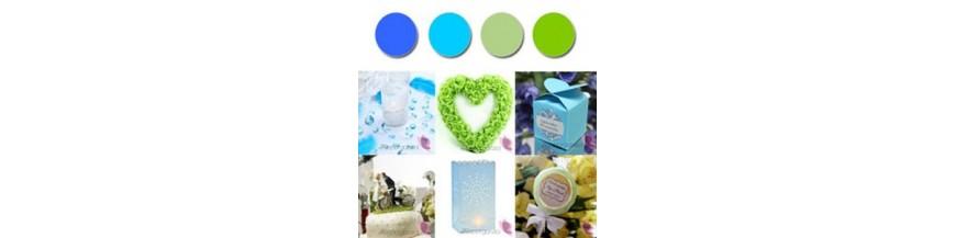 Paleta - niebieski, zieleń