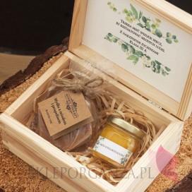 Zestawy z naturalnymi słodyczami dla Nauczycieli Zestaw upominkowy propolis w szkatułce - NATURA - personalizacja Dzień Naucz...