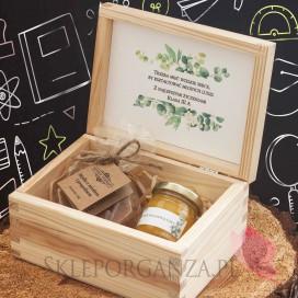 Zestaw upominkowy propolis w szkatułce - NATURA - personalizacja Dzień Nauczyciela