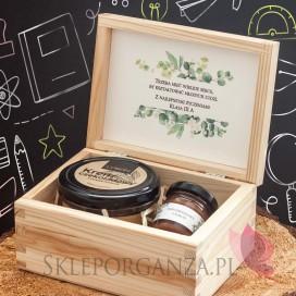 Zestaw czekoladowy mały w szkatułce - NATURA - personalizacja Dzień Nauczyciela