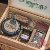 Zestawy z naturalnymi słodyczami dla Nauczycieli Zestaw czekoladowy średni w szkatułce - NATURA - personalizacja Dzień Nauczy...