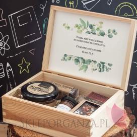 Zestaw czekoladowy średni w szkatułce - NATURA - personalizacja Dzień Nauczyciela