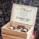 Zestaw malina - jagoda 1 w szkatułce - NATURA - personalizacja Dzień Nauczyciela