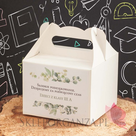 Zestawy prezentowe z miodami dla Nauczycieli Zestaw upominkowy miód ŚREDNI – personalizacja Dzień Nauczyciela