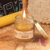 Świeca z wosku pszczelego zapach WANILIA – personalizacja Dzień Nauczyciela