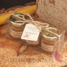 Świece z naturalnego wosku pszczelego dla Nauczycieli Zestaw upominkowy świece z wosku pszczelego - personalizacja Dzień Nau...