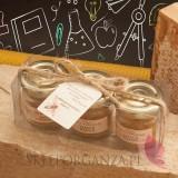 Zestaw upominkowy świece z wosku pszczelego - personalizacja Dzień Nauczyciela