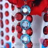 Girlandy kryształowe Kryształowa girlanda turkusowa 18mm