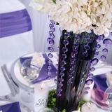 Girlandy kryształowe Kryształowa girlanda fioletowa 18mm