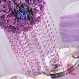 Girlandy kryształowe Kryształowa girlanda liliowa 18mm