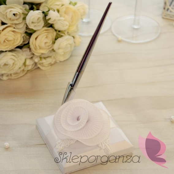Dodatki do ksiąg gości weselnych Długopis z podstawką - KOLEKCJA EKSKLUZYWNA