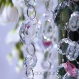 Girlandy kryształowe Kryształowa girlanda bezbarwna 18mm-30mm