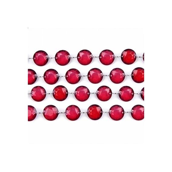 Girlandy kryształowe Kryształowa girlanda malinowa 18mm